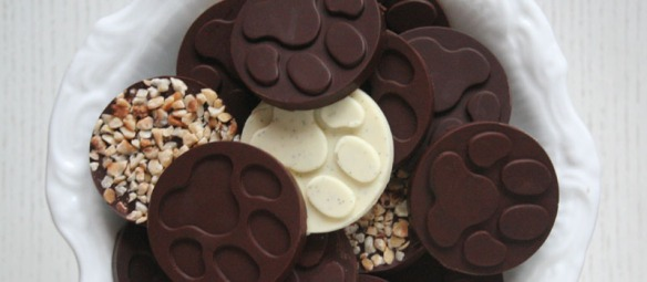 chocolate paw prints