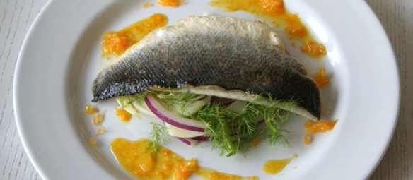 fish fennel and orange