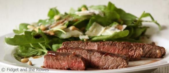 roquette salad steak tagliata rucola