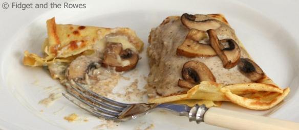 crespelle funghi mushroom crêpes pancakes