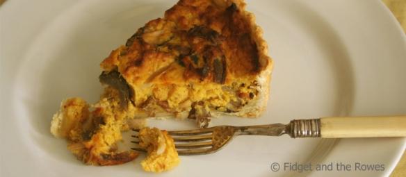 Pumpkin Mushroom Quiche Savoury Tart
