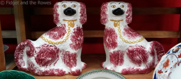dogs porcelain vintage antiques fairs