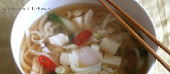 Oyako Udon miso noodle soup