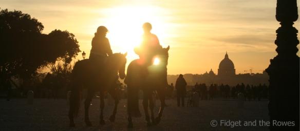 Sunset tramonto Roma Rome Pincio