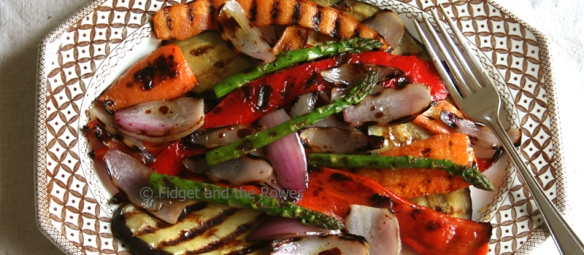 griddle pan charred vegetables