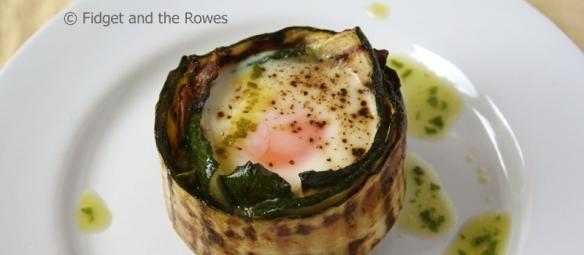 Egg nests uova in camicia zucchini