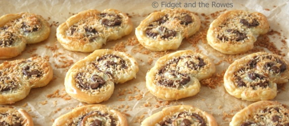 Nutella palmiers with coconut