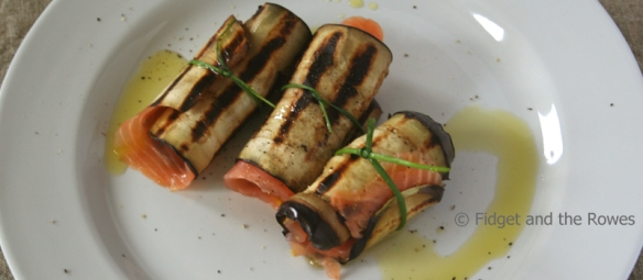 salmon and aubergine rolls PerdiPeso recipe