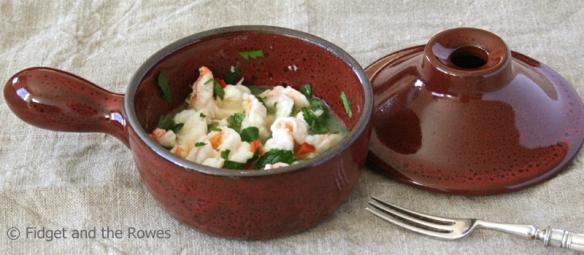 microwave garlic prawns