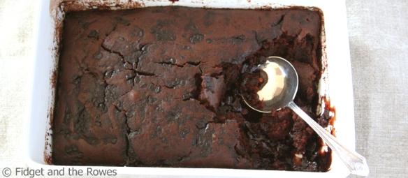 Self-saucing chocolate Jaffa pudding