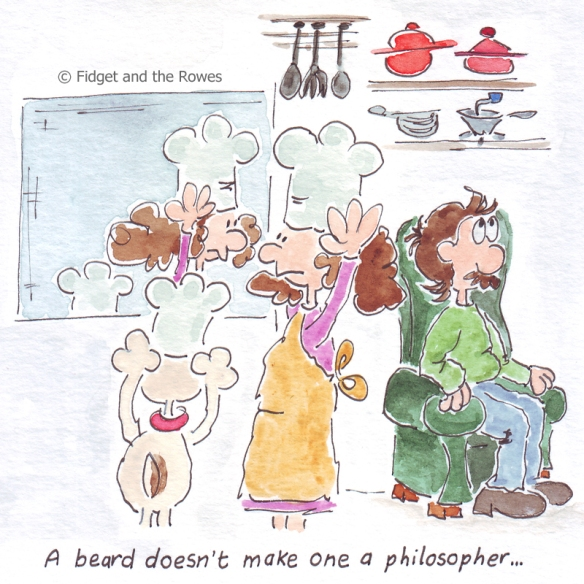 A beard doesn't make one a philosopher L'abito non fa il monaco
