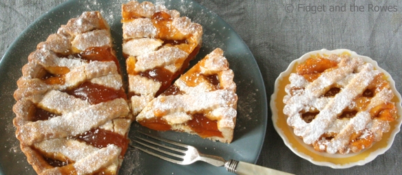 Italian breakfast colazione crostata apricot jam lattice tart