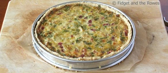 Leek and pancetta savoury tart Torta salata
