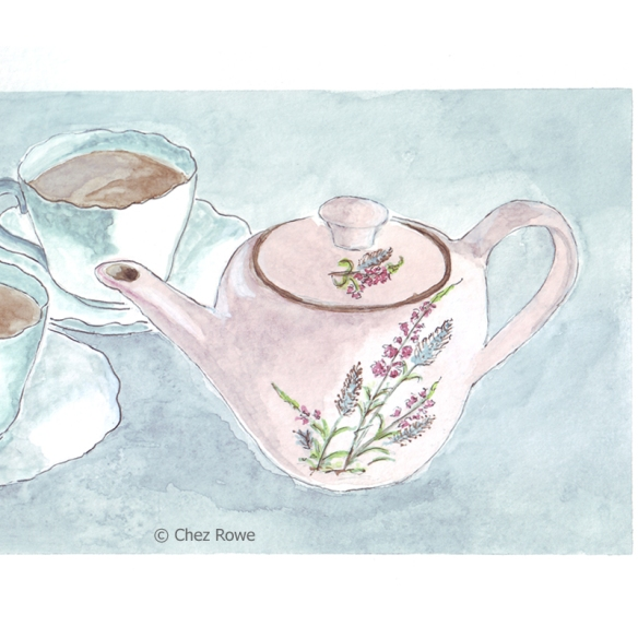 Chez Rowe illustration Meakin tea pot