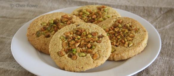 Chez Rowe pistachio biscuits biscotti ai pistacchi