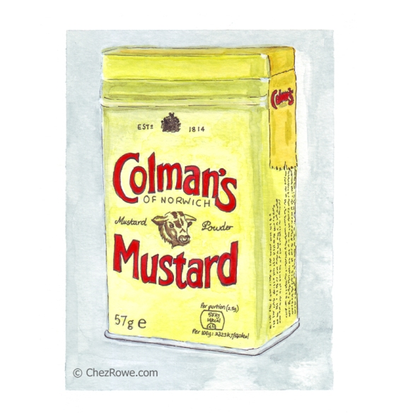 Chez Rowe Colman's Mustard illustration drawing watercolour
