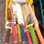 Cricket bats vintage tools antiques fair