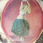 Dancer metal tin vintage earthenware china crockery earthenware antiques fair