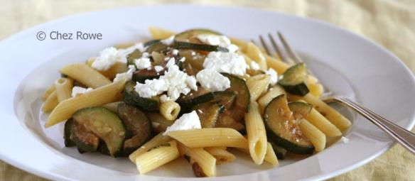 pasta scapece zucchini courgettes
