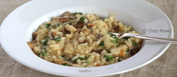 Risotto with dried porcini mushrooms – risotto ai funghi porcini secchi