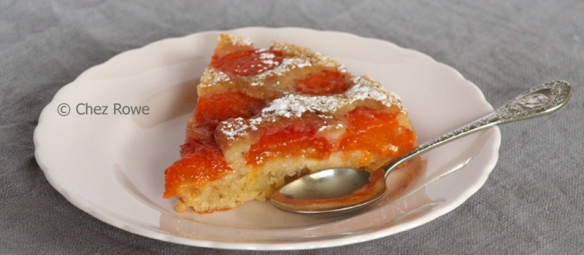Upside Down Apricot Cake