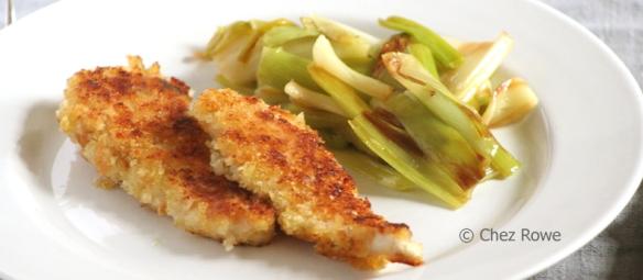 Buttermilk chicken schnitzel