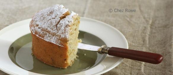 yuzu and pistachio sponge cake