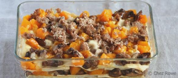 pumpkin and mushroom lasagna – lasagne zucca e funghi